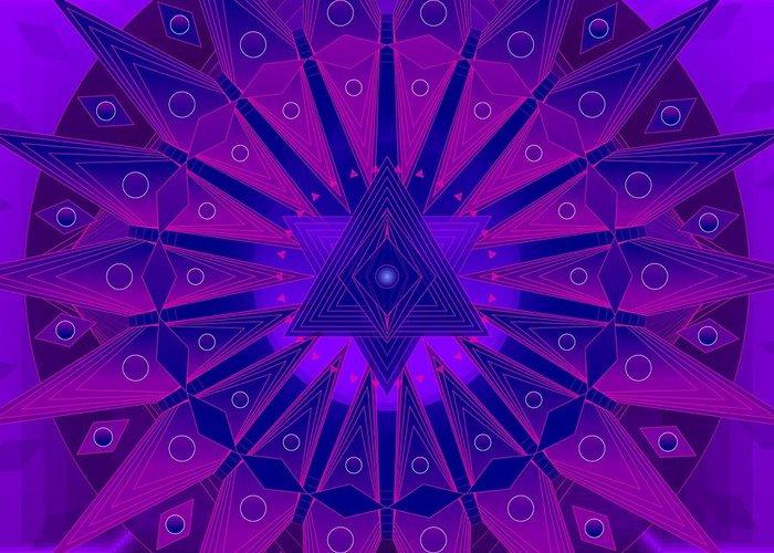 Mandala Greeting Card featuring the digital art Mandala For Ca Symptoms by Sarah Niebank