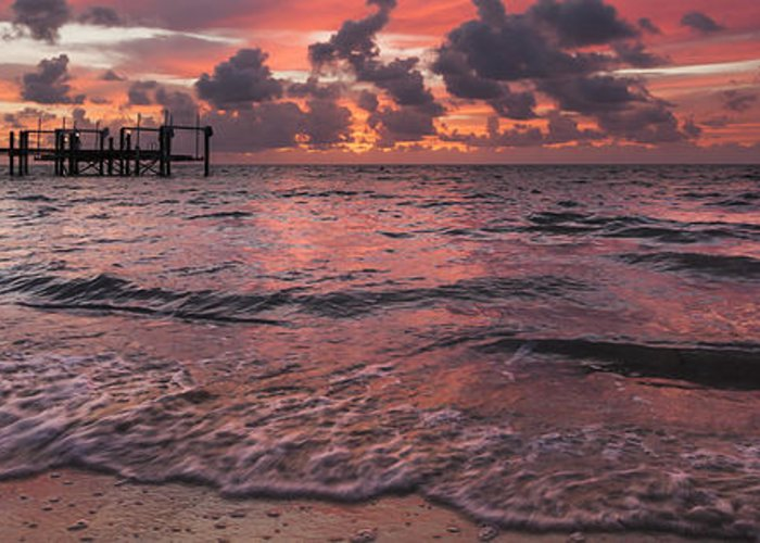 3scape Photos Greeting Card featuring the photograph Marathon Key Sunrise Panoramic by Adam Romanowicz