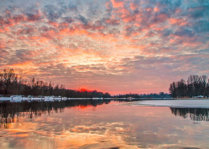 Landscape Greeting Card featuring the photograph Marble Sky II by Davorin Mance