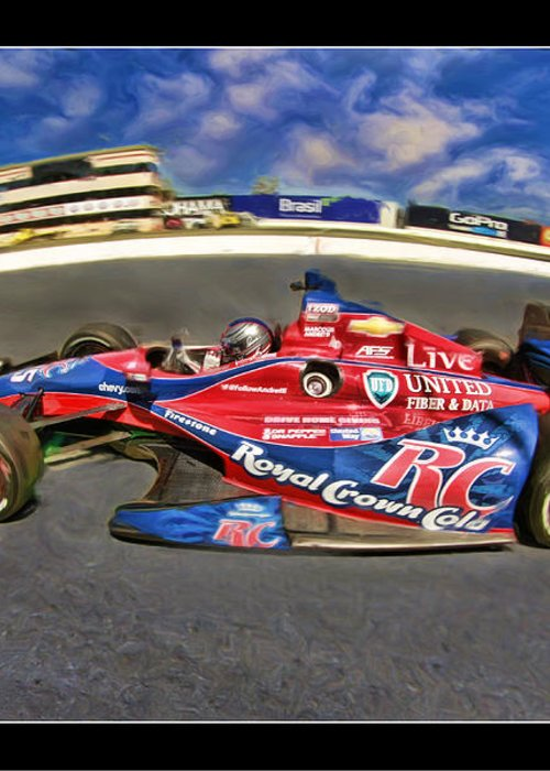 Marco Andretti Greeting Card featuring the photograph Marco Andretti by Blake Richards
