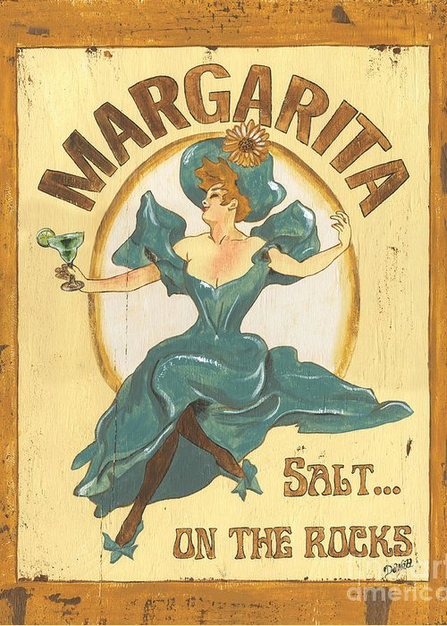 Margarita Greeting Card featuring the painting Margarita Salt On The Rocks by Debbie DeWitt