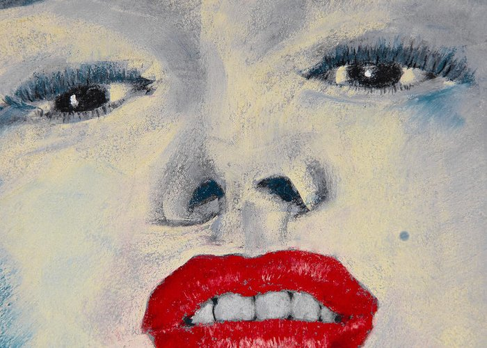 Marilyn Monroe Greeting Card featuring the painting Marilyn Monroe by David Patterson