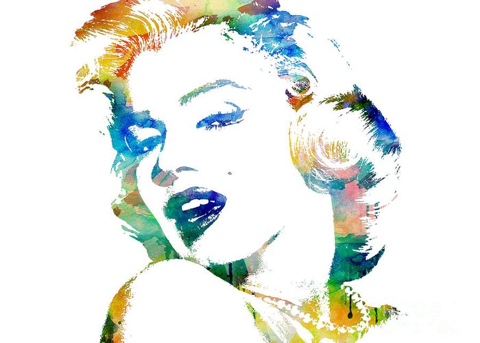 Marilyn Monroe Greeting Card featuring the digital art Marilyn Monroe by Mike Maher