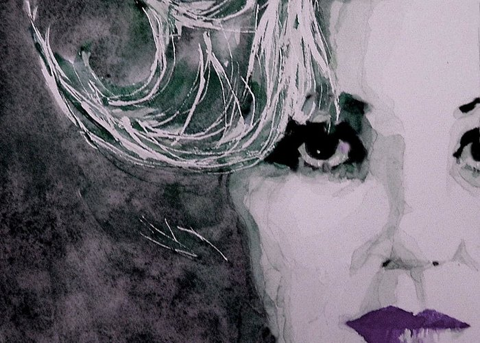 Marilyn Monroe Greeting Card featuring the painting Marilyn No9 by Paul Lovering