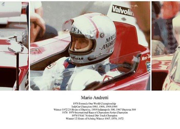 Mario Andretti Greeting Card featuring the photograph Mario Andretti by Don Struke