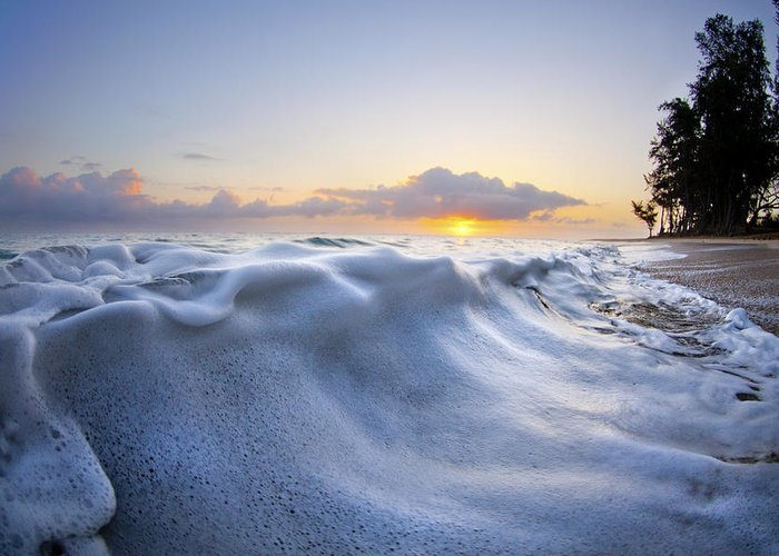 Wave Greeting Card featuring the photograph Marshmallow Tide by Sean Davey
