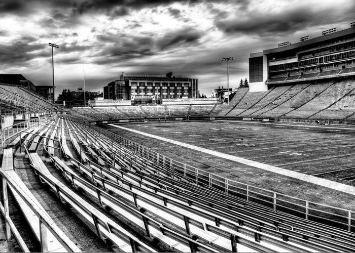 Washington State University Greeting Card featuring the photograph Martin Stadium On The Washington State University Campus by David Patterson