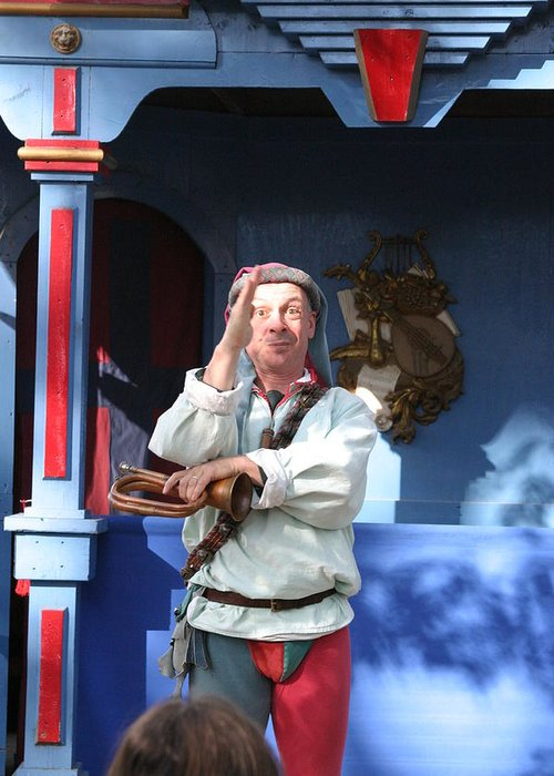 Maryland Greeting Card featuring the photograph Maryland Renaissance Festival - A Fool Named O - 12125 by DC Photographer
