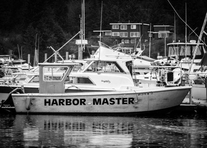 Transportation Greeting Card featuring the photograph Master Of The Harbor by Melinda Ledsome