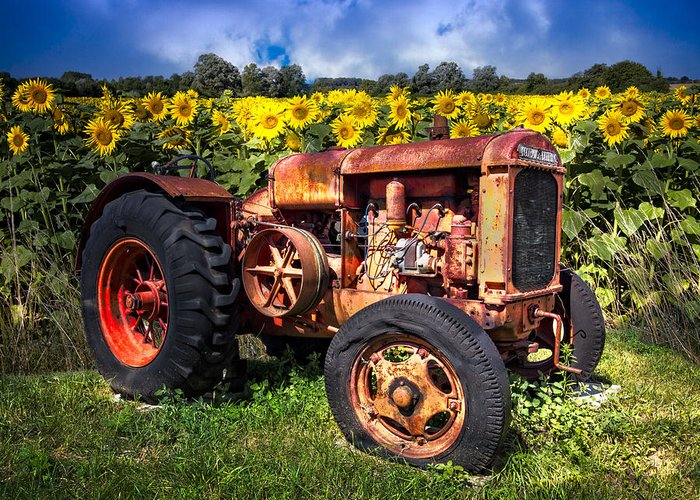 Appalachia Greeting Card featuring the photograph Mccormick Deering by Debra and Dave Vanderlaan