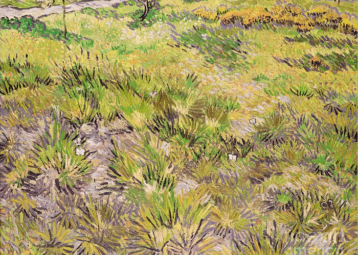 Landscape Greeting Card featuring the painting Meadow With Butterflies by Vincent Van Gogh