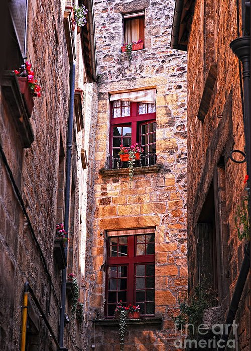 Sarlat Greeting Card featuring the photograph Medieval Architecture by Elena Elisseeva
