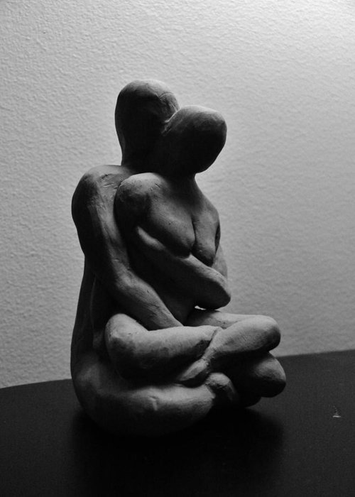 Meditation Greeting Card featuring the sculpture Meditations by Barbara St Jean