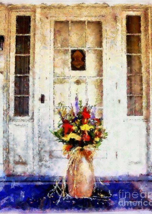 Front Porch Greeting Card featuring the photograph Memory Lane by Janine Riley