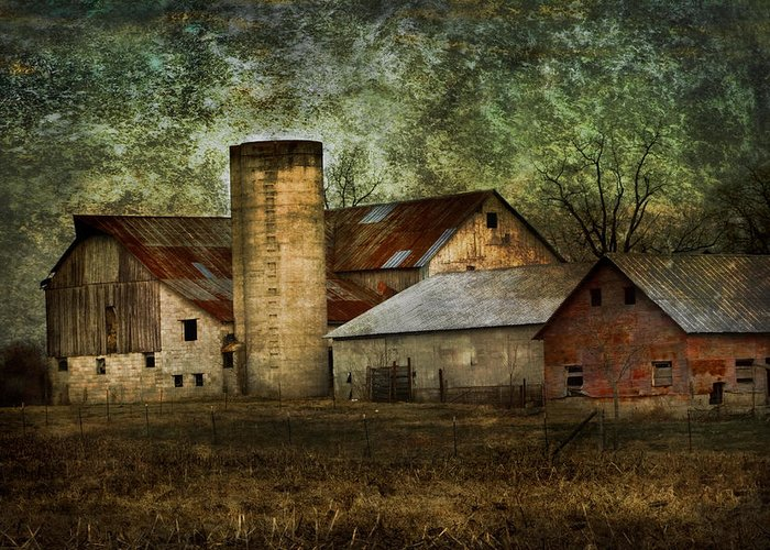 Mennonite Greeting Card featuring the photograph Mennonite Farm In Tennessee Usa by Kathy Clark