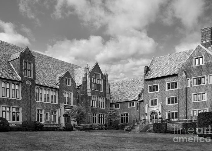 Mercyhurst Greeting Card featuring the photograph Mercyhurst University Old Main by University Icons