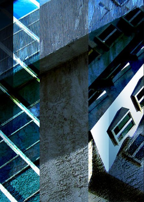 Merged Greeting Card featuring the photograph Merged - Tower Blues by Jon Berry