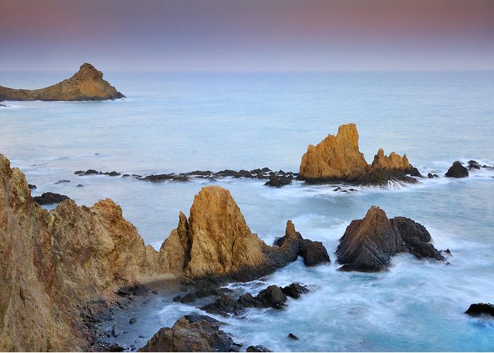 Seascape Greeting Card featuring the photograph Mermail Reef by Guido Montanes Castillo