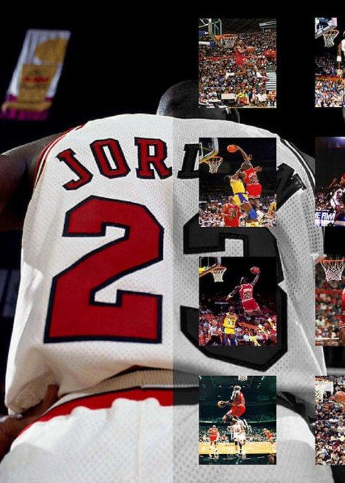 Michael Jordan Greeting Card featuring the photograph Michael Jordan by Joe Hamilton
