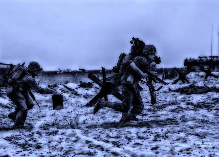 Surrealist Greeting Card featuring the photograph Midnight Battle Stay Close by Thomas Woolworth