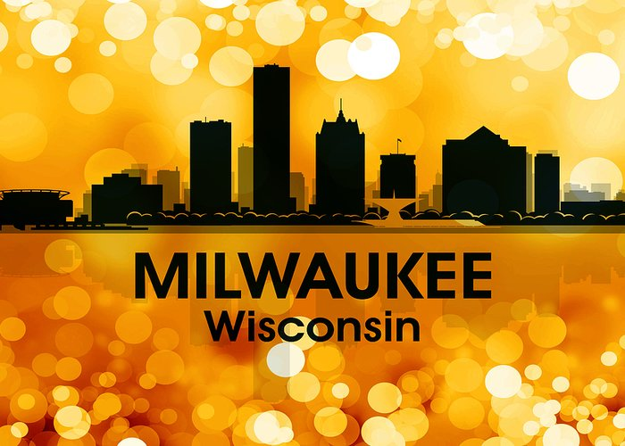 Milwaukee Greeting Card featuring the mixed media Milwaukee Wi 3 by Angelina Vick