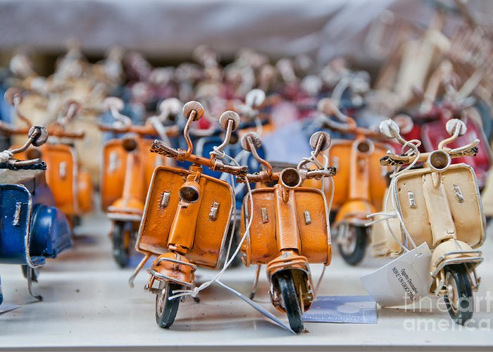 Naples Greeting Card featuring the photograph Mini Scooters by Marion Galt