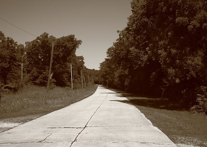 66 Greeting Card featuring the photograph Missouri Route 66 2012 Sepia. by Frank Romeo