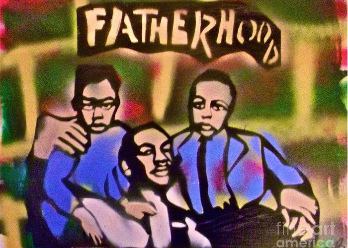 Occupy Greeting Card featuring the painting Mlk Fatherhood 2 by Tony B Conscious