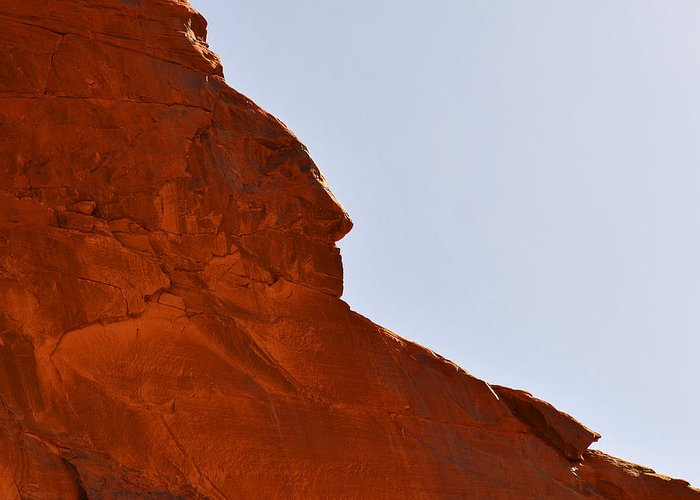Monument Greeting Card featuring the photograph Monument Valley Indian Chief by Christine Till