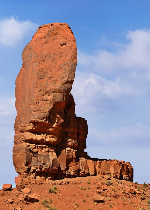 Monument Greeting Card featuring the photograph Monument Valley - The Thumb by Christine Till