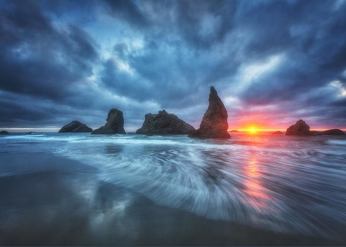 Oregon Greeting Card featuring the photograph Moody Blues Of Oregon by Darren White