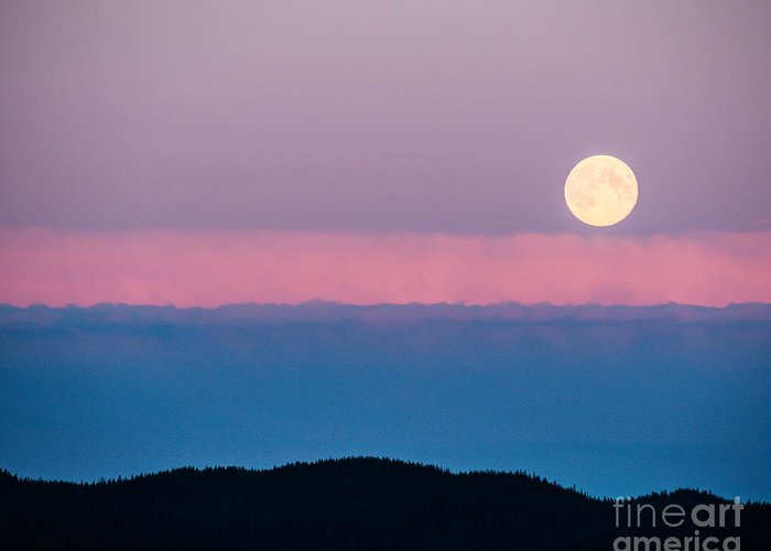 Moon Rise Greeting Card featuring the photograph Moonrise by Christina Klausen