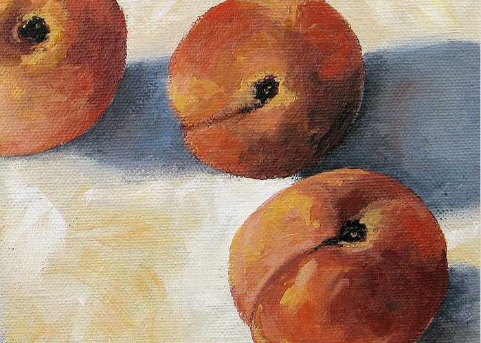 Peaches Greeting Card featuring the painting More Georgia Peaches by Torrie Smiley
