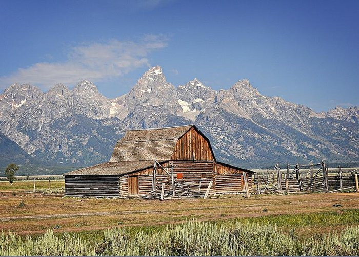 Barn Greeting Card featuring the photograph Mormon Barn 2 by Marty Koch