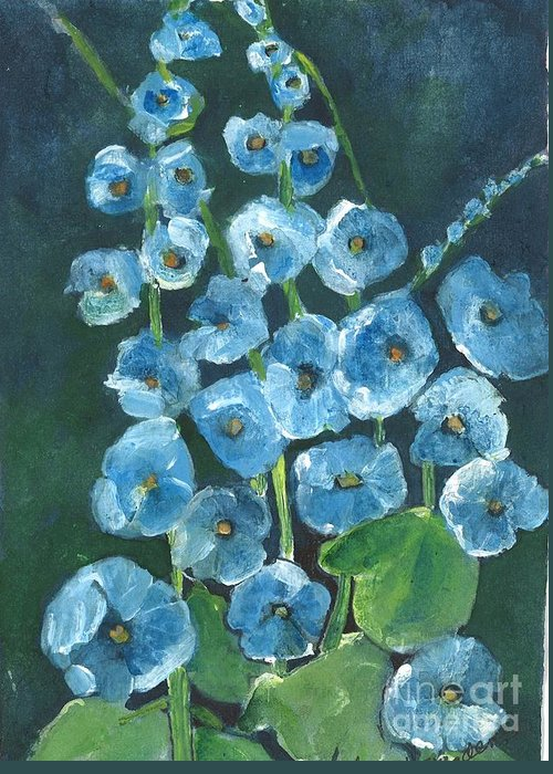 Orchards Greeting Card featuring the painting Morning Glory Greetings by Sherry Harradence