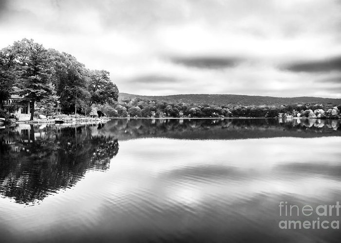 Morning Lake View Greeting Card featuring the photograph Morning Lake View by John Rizzuto