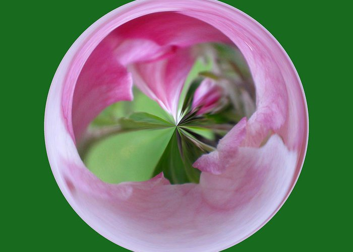 Photo Greeting Card featuring the photograph Morphed Art Globe 11 by Rhonda Barrett