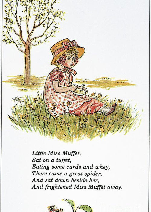 1881 Greeting Card featuring the photograph Mother Goose, 1881 by Granger