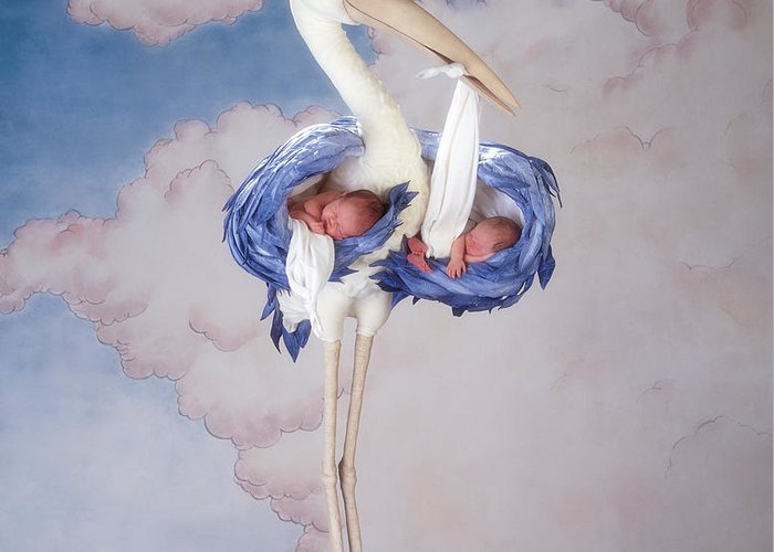 Mother Stork Greeting Card featuring the photograph Mother Stork by Anne Geddes