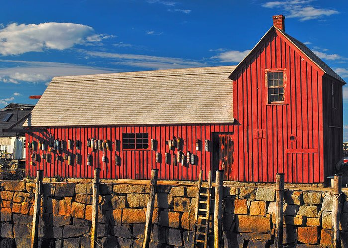 Rockport Greeting Card featuring the photograph Motif No 1 by Joann Vitali