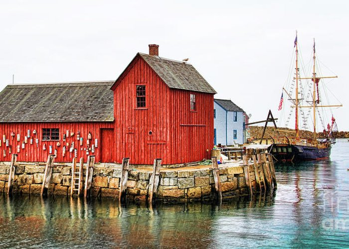 Motif #1 Greeting Card featuring the photograph Motif Number 1 Rockport Ma by Jack Schultz