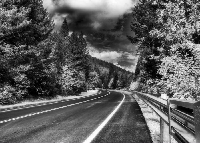 Mountain Greeting Card featuring the photograph Mountain Highway by Mick Burkey
