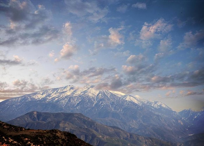 Mountains Greeting Card featuring the photograph Mountain Top by Athala Carole Bruckner