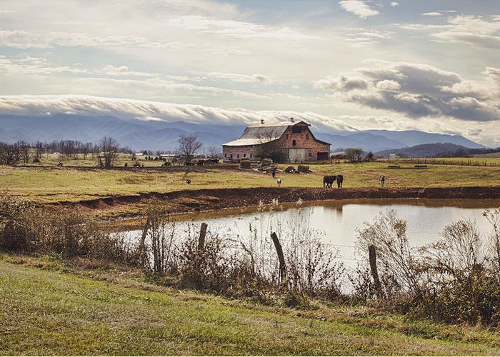 Barn Greeting Card featuring the photograph Mountain View Barn by Heather Applegate