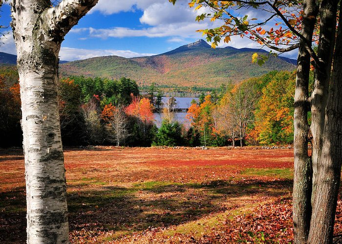 Chocorua Greeting Card featuring the photograph Mt Chocorua - A New Hampshire Scenic by Thomas Schoeller