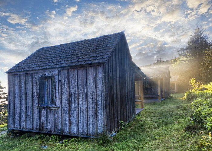 Appalachia Greeting Card featuring the photograph Mt Leconte Cabins by Debra and Dave Vanderlaan