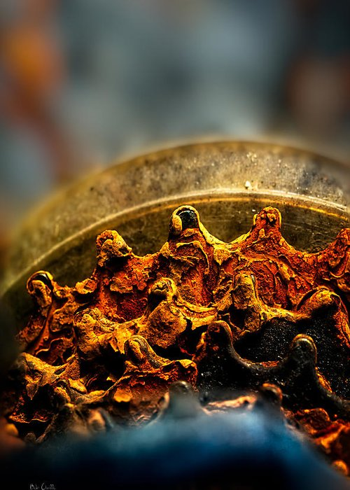 Gear Greeting Card featuring the photograph Muddy Rusty Sprockets by Bob Orsillo