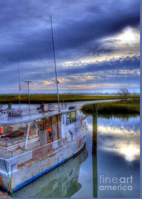 Landscapes Greeting Card featuring the photograph Murrells Inlet Morning by Mel Steinhauer