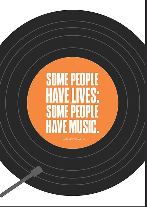 Music Poster Greeting Card featuring the digital art Music Quotes Typography Print Poster by Lab No 4 - The Quotography Department