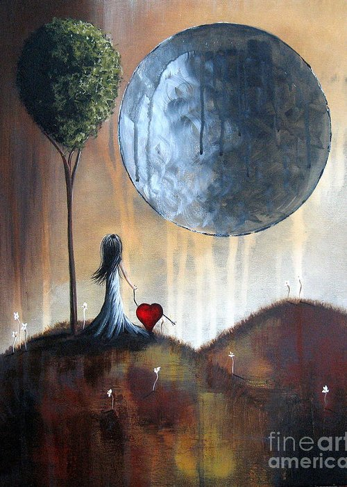 Surreal Greeting Card featuring the painting My Bff By Shawna Erback by Shawna Erback
